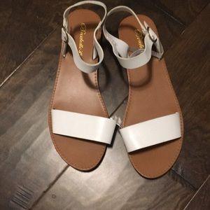 Breckelles Shoes - White sandals